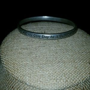 One Day At A Time Silver Bangle